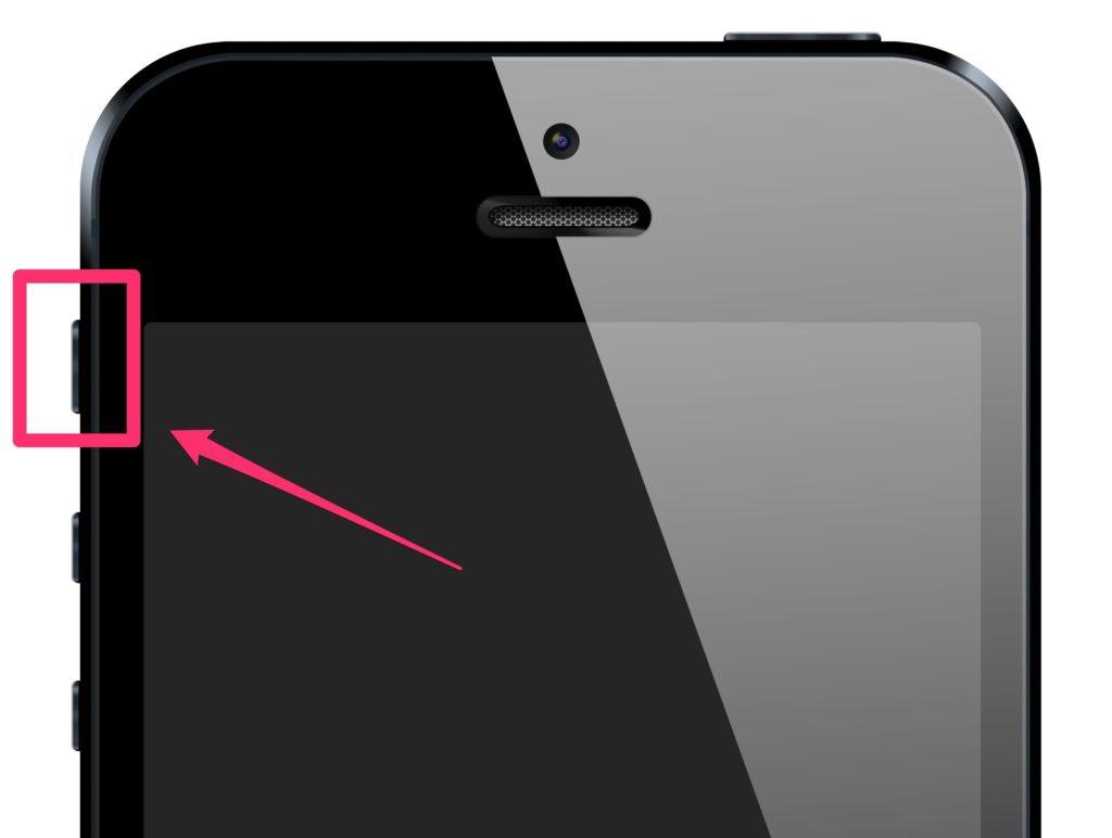 iPhoneのマナーモードスイッチの画像