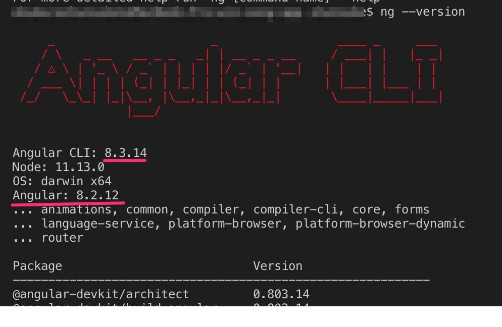 Angularアップデート手順の画像