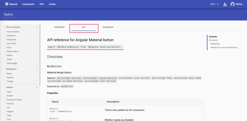 Angular Materialインストール方法の画像